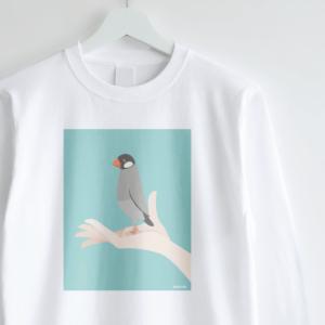 ノーマル文鳥 長袖Tシャツ 手タクシーTAXI
