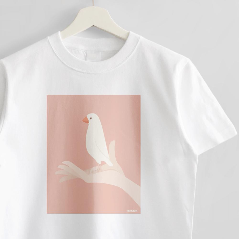 白文鳥 Tシャツ 手タクシーTAXI