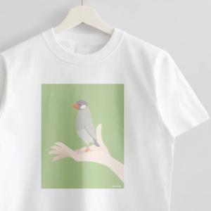 シルバー文鳥 Tシャツ 手タクシーTAXI