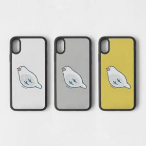 下から見た文鳥アイフォンケース